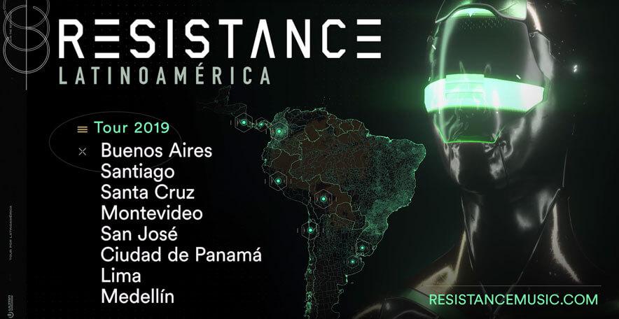 Lanzamiento oficial RESISTANCE Latinoamérica Tour 2019